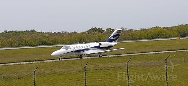 Cessna Citation CJ1 (N970PT) - Right on schedule @ 11:28am.