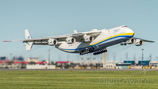 Antonov An-225 Mriya (UR-82060) - After spending the night at YYZ they blast off again to Anchorage, here climbing off runway 06L
