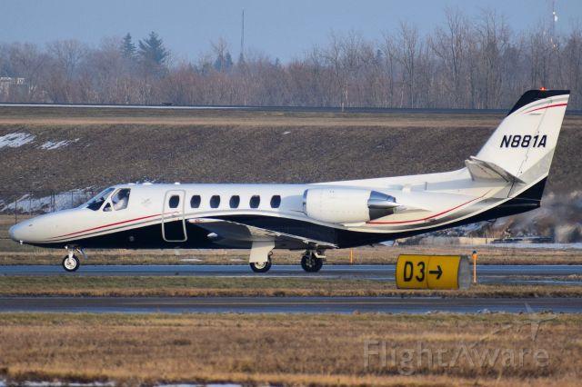 Cessna Citation II (N881A) - 1987 Cessna Citation II (S550) operated by Tucker Jets arriving into the Buffalo Niagara International Airport (KBUF)