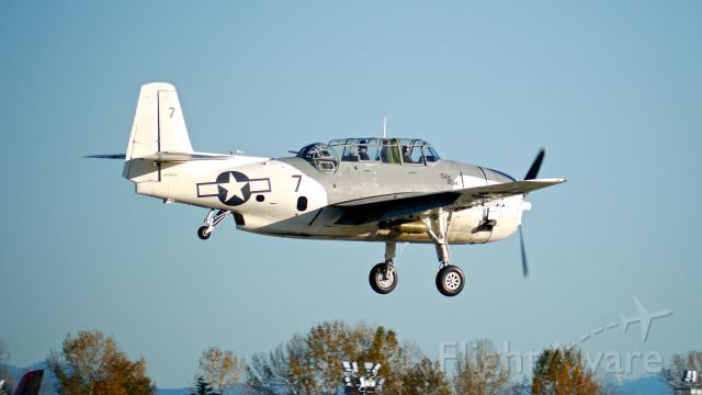N9584Z — - You never know what will be flying at KPAE! This is Historic Flight Foundations Grumman TBM-3E Avenger (Ser #85882) on final to Rwy 16R on 11/8/16.