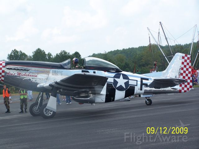 North American P-51 Mustang (N51KB) - Scott County, Oneida Tn. airshow, Sept. 2009.