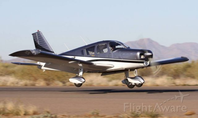 Piper Cherokee (N8483R) - This is me landing at Coolidge, AZ for a fly-in breakfast.