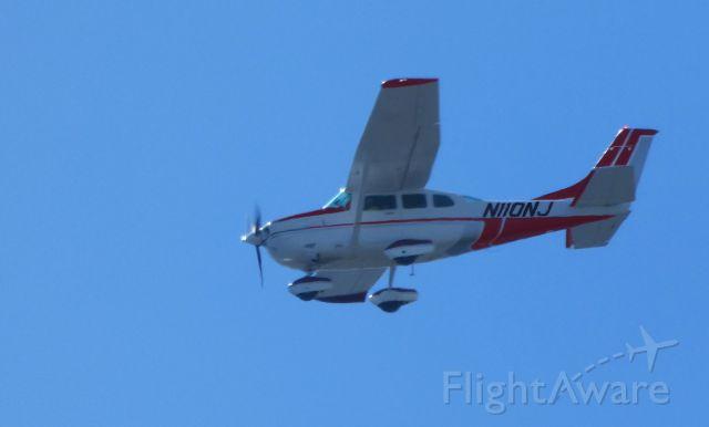 Cessna 206 Stationair (N110NJ) - Passing over Raritan Bay is this 1986 Cessna Stationair U206G in the Summer of 2019.