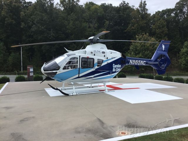 N865NC — - On Chatham Hospital Helipad