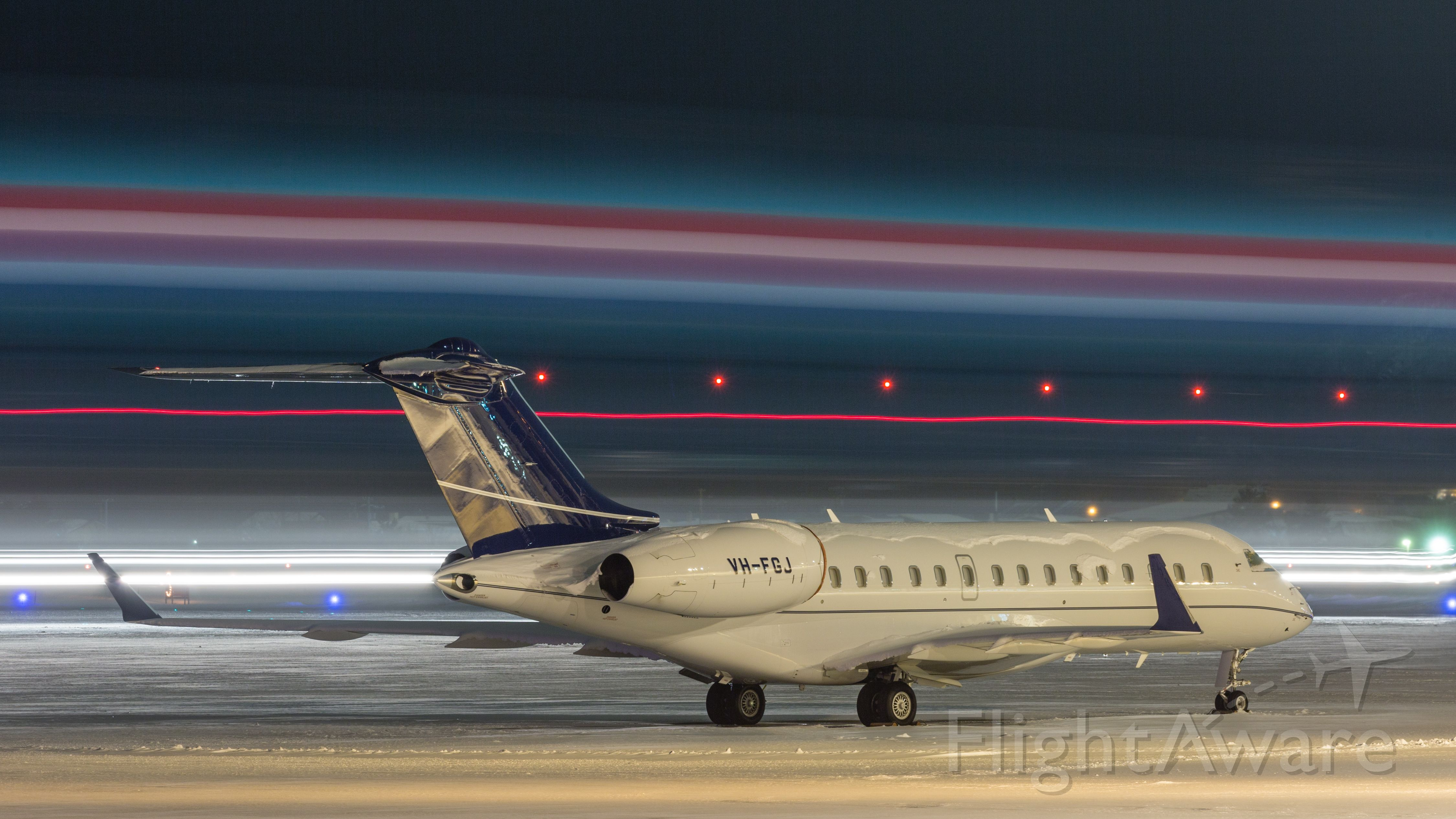 Bombardier Global Express (VH-FGJ) - Bombardier BD-700-1A10 Global 6000<br />Jan.11.2016 Hakodate Airport [HKD/RJCH] JAPAN