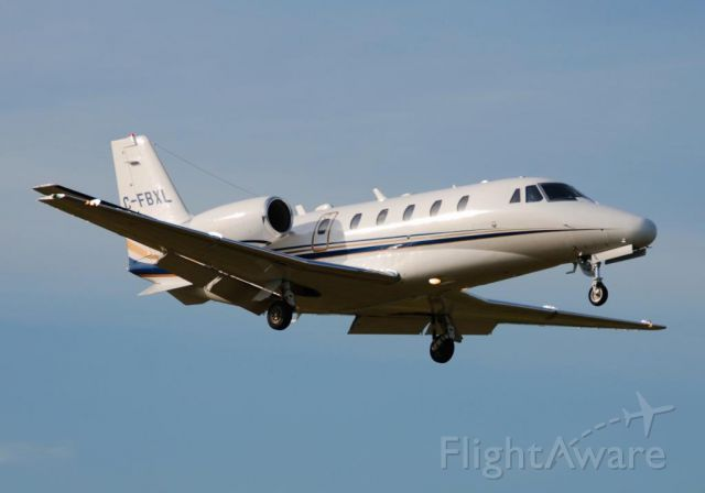 Cessna Citation Excel/XLS (C-FBXL) - AirSprint 'Canadian Fractional' C-FBXL Citation 560XL call sign ASP298, landing runway 15 Buttonville (Toronto) June 20/2013