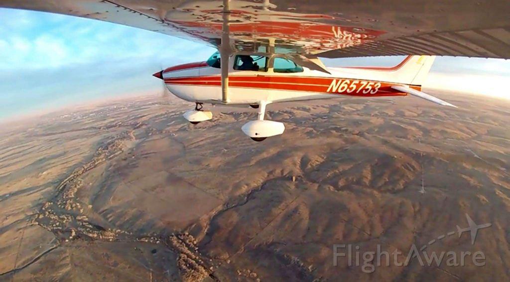 Cessna Skyhawk (N65753) - Flying west of Guymon