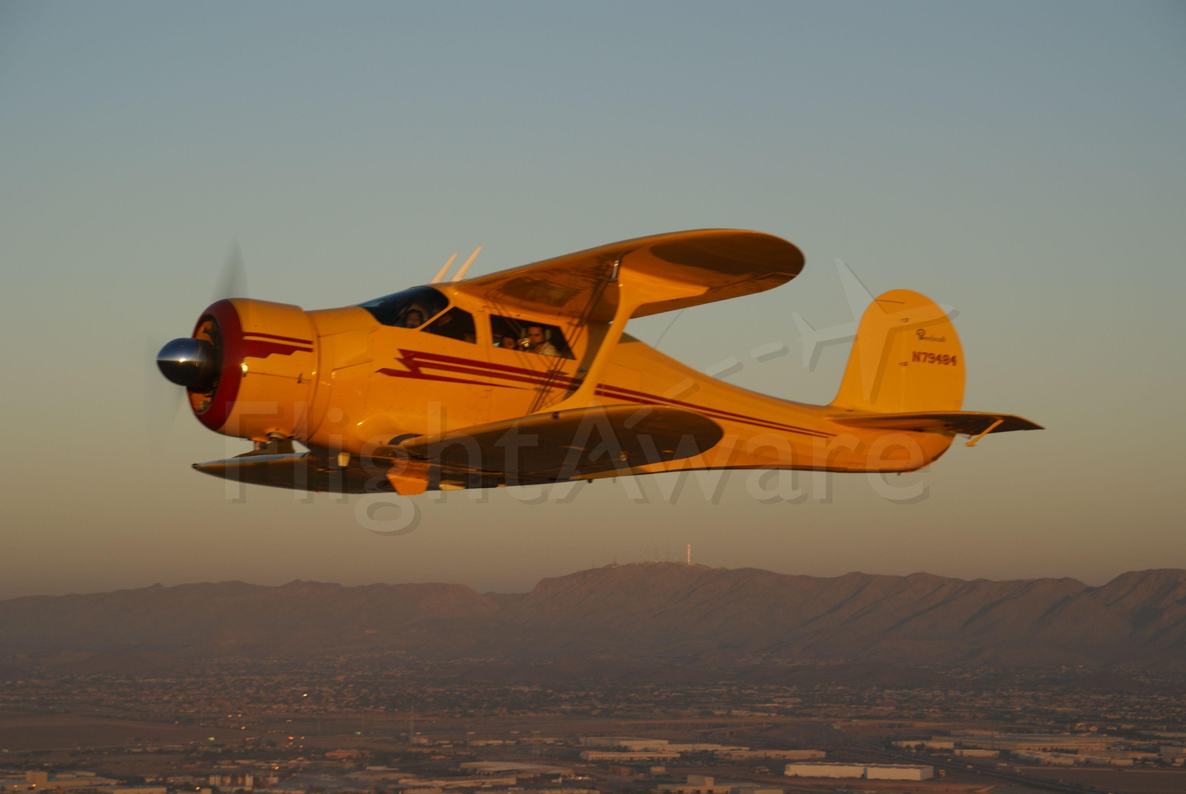 N79484 — - Beechcraft Stagger Wing over Maricopa, AZ