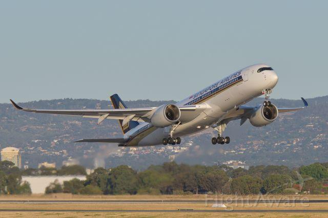 Airbus A350-900 (9V-SHK) - Departing Adelaide runway 23, 13 Jan 2020