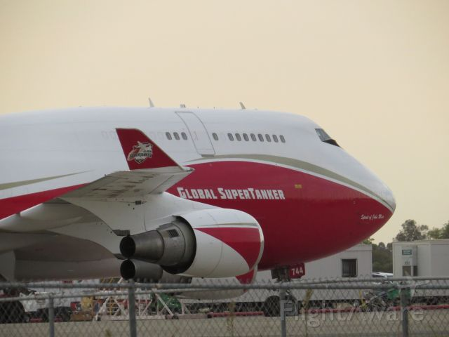 Boeing 747-400 (N744ST) - GST 944 at Sacramento McClellan Airport.