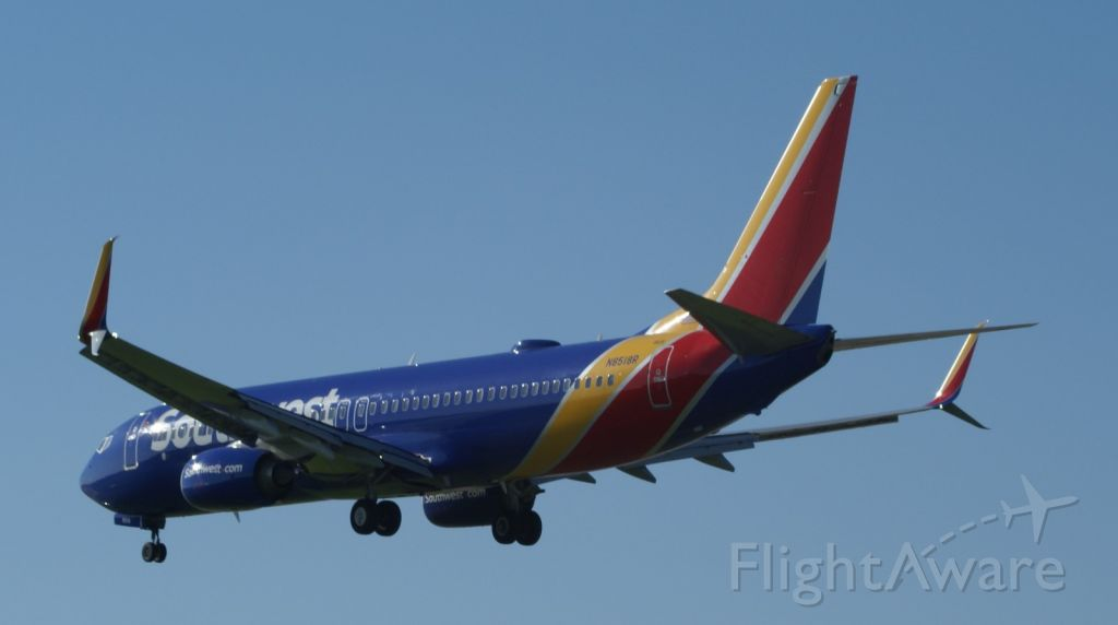 Boeing 737-800 (N8518R) - WN478 from AUS