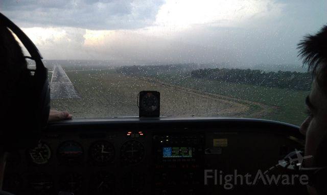 Cessna Skyhawk (N981SP) - On approach at Alexandria, LA ILS RWY 14