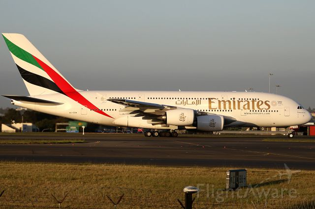 Airbus A380-800 (A6-EEM) - on 1 December 2017