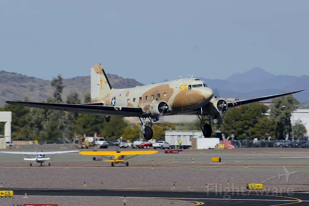 Douglas DC-3 (N53ST) - Douglas C-47A Dakota N53ST at Deer Valley, Arizona on February 26, 2015