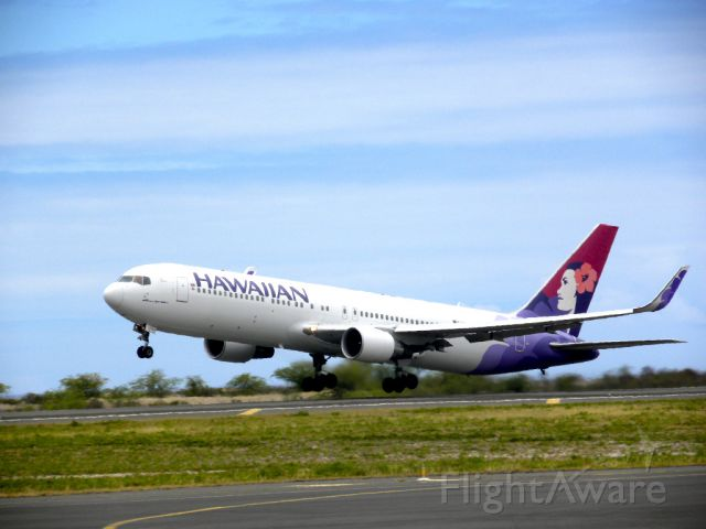 — — - Hawaiian Airlines 767-300 with new winglets.