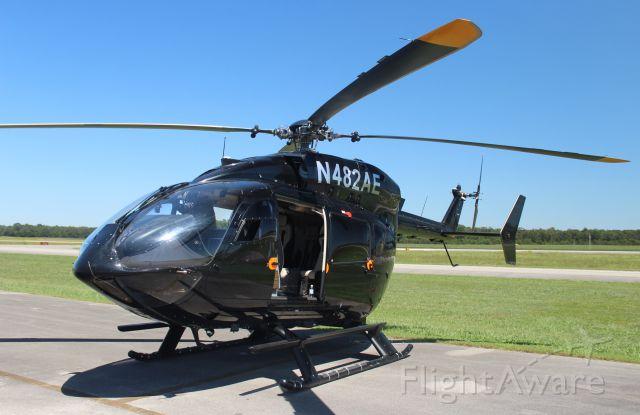 KAWASAKI EC-145 (N482AE) - A Eurocopter-Kawasaki EC-145 on the ramp at Pryor Regional Airport, Decatur, AL - August 16, 2019.
