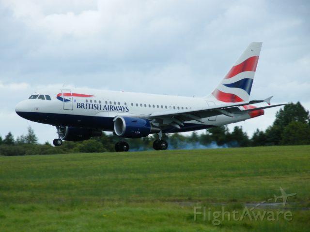 Airbus A318 (G-EUNA) - G-EUNA A318-112 CN 4007 BRITISH AIRWAYS LANDING SHANNON   24-09-2010 RUNWAY 06 CALLSIGN SPEEDBIRD 1