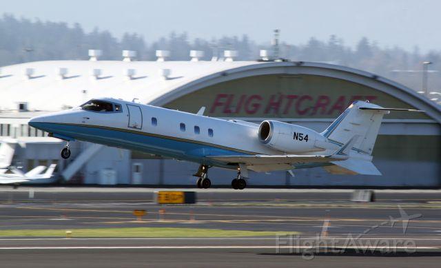 Learjet 60 (N54) - FAA Lear 60 departing Portland International Airport.