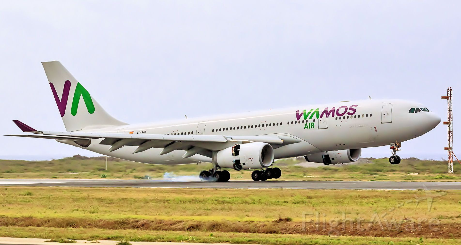 Airbus A330 (EC-MNY) - Wamos landing at TNCC as a chater flight for TUI.