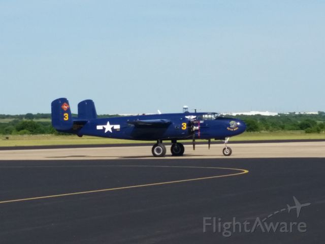 North American TB-25 Mitchell — - Nice B-25 on the ramp at Draughon-Miller Central Texas Regional