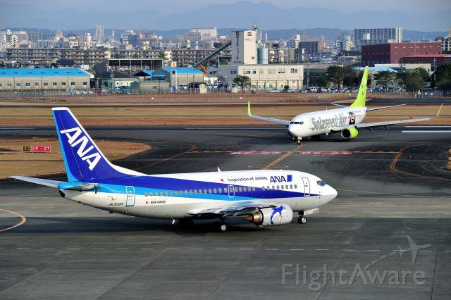 Boeing 737-500 (JA302K) - and JA802X(B738)SNA