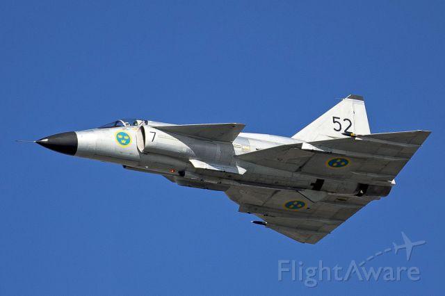 — — - Saab Viggen over Jersey Channel Islands RAF Display Sept 2012