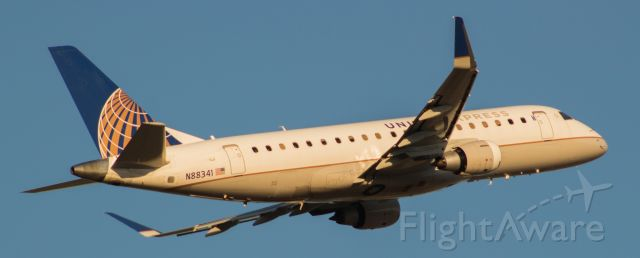 Embraer 175 (N88341) - Mesa Airlines leaves IAH with a patch job.
