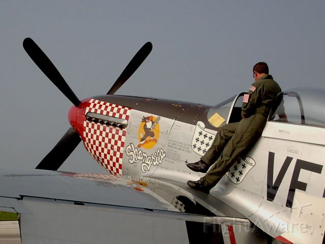 N51VF — - Reviewing his maneuvers prior to his performance in the Cleveland National Air Show at KBKL  September 2004.