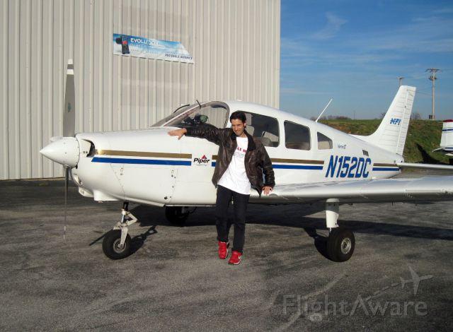 Piper Cherokee (N152DC) - Fuel-stop at KILG, New Castle Airport, Wilmington, Delaware.