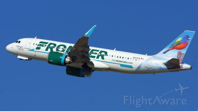 Airbus A320neo (N317FR) - 31L departure.