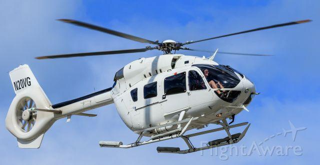 KAWASAKI EC-145 (N20VG) - N20GV in flight to the helipad at TNCM St Maarten.<br />22/12/2018