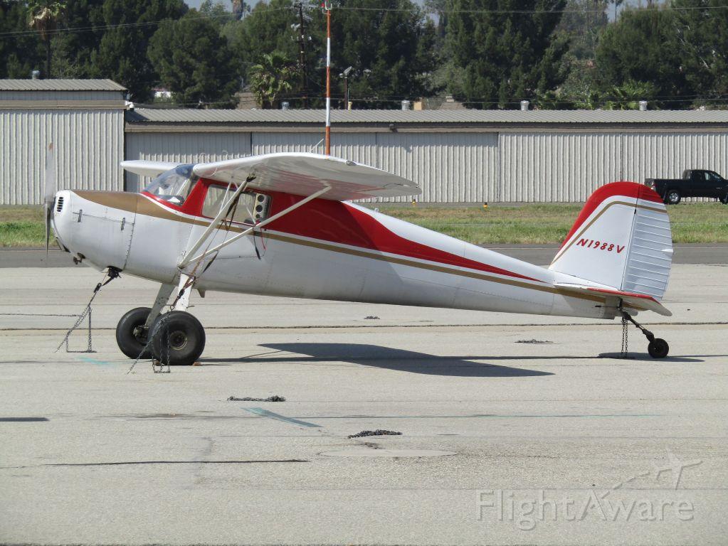 Cessna 120 (N1988V) - On the ramp