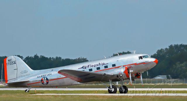 Douglas DC-3 (NC17334) - Dayton-Vectren Airshow 2010 June