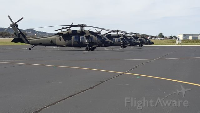 — — - UH-60s Visiting