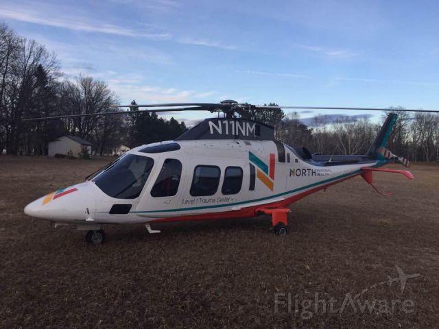 SABCA A-109 (N11NM) - North Memorial Health Care showing off it