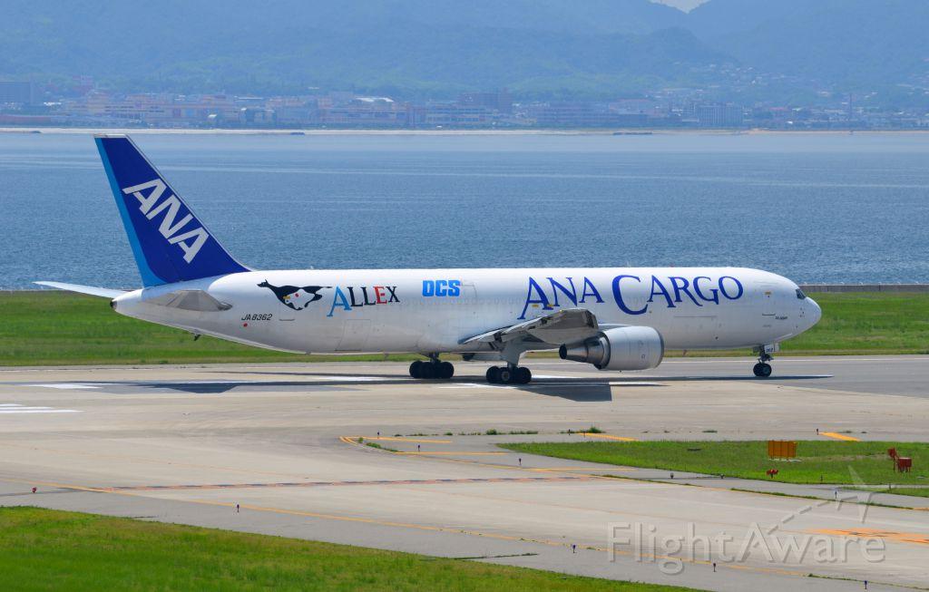 BOEING 767-300 (JA8362) - Airline: All Nippon Airways (NH/ANA); Airport: Kansai International Airport (KIX/RJBB); Camera: Nikon D7000; Date: 4 July 2012