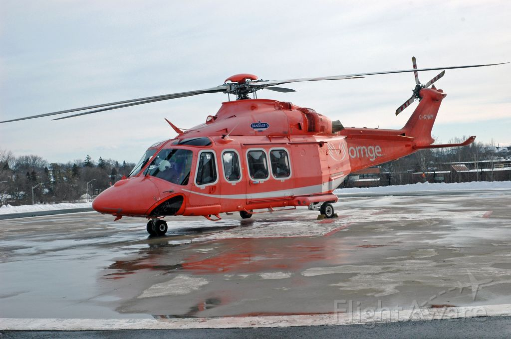 BELL-AGUSTA AB-139 (C-GYNM) - 2010 Agusta AW-139 (C-GYNM/41245) shortly after landing and awaiting its next mission (Jan 27, 2021)