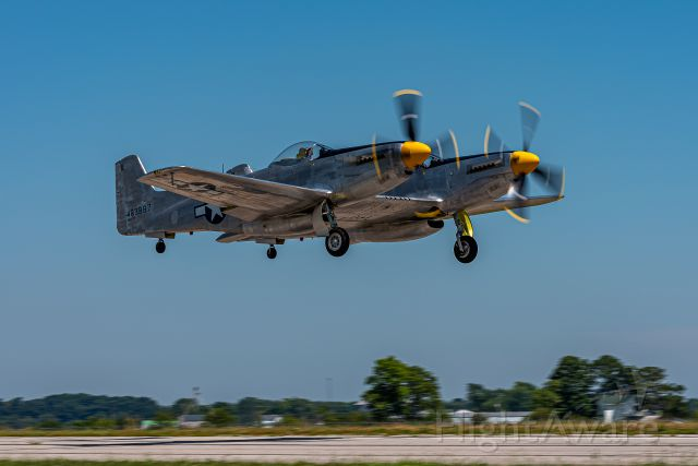 N887XP — - Enroute to Oshkosh, the famed XP-82 landed at the Springfield-Beckley Airport in Springfield, Ohio; 7/13/19.