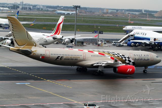 Airbus A330-300 (A9C-KB) - rain in EDDF