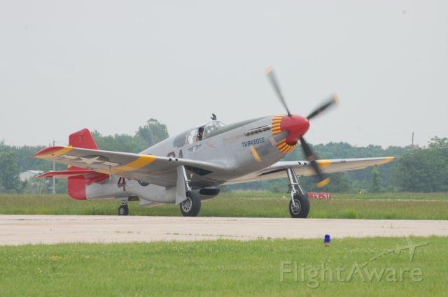 — — - P-51C landing at Memorial Day airshow, Columbia, MO, 2011