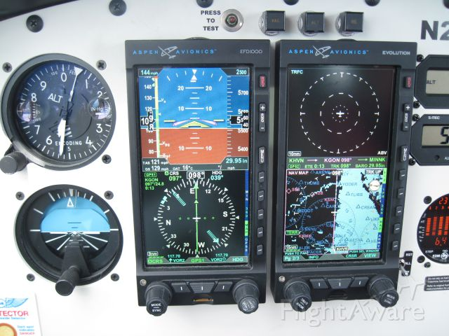 — — - AOPA Good As Glass 2008 prized Archer II. Aspen Avionics PFD and MFD. It is a joy to navigate with this avionics suite.