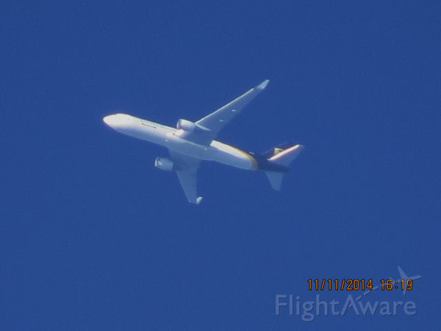 BOEING 767-300 (N334UP) - UPS flight 2872 from SDF to ABQ over Southeastern Kansas at 36,000 feet.