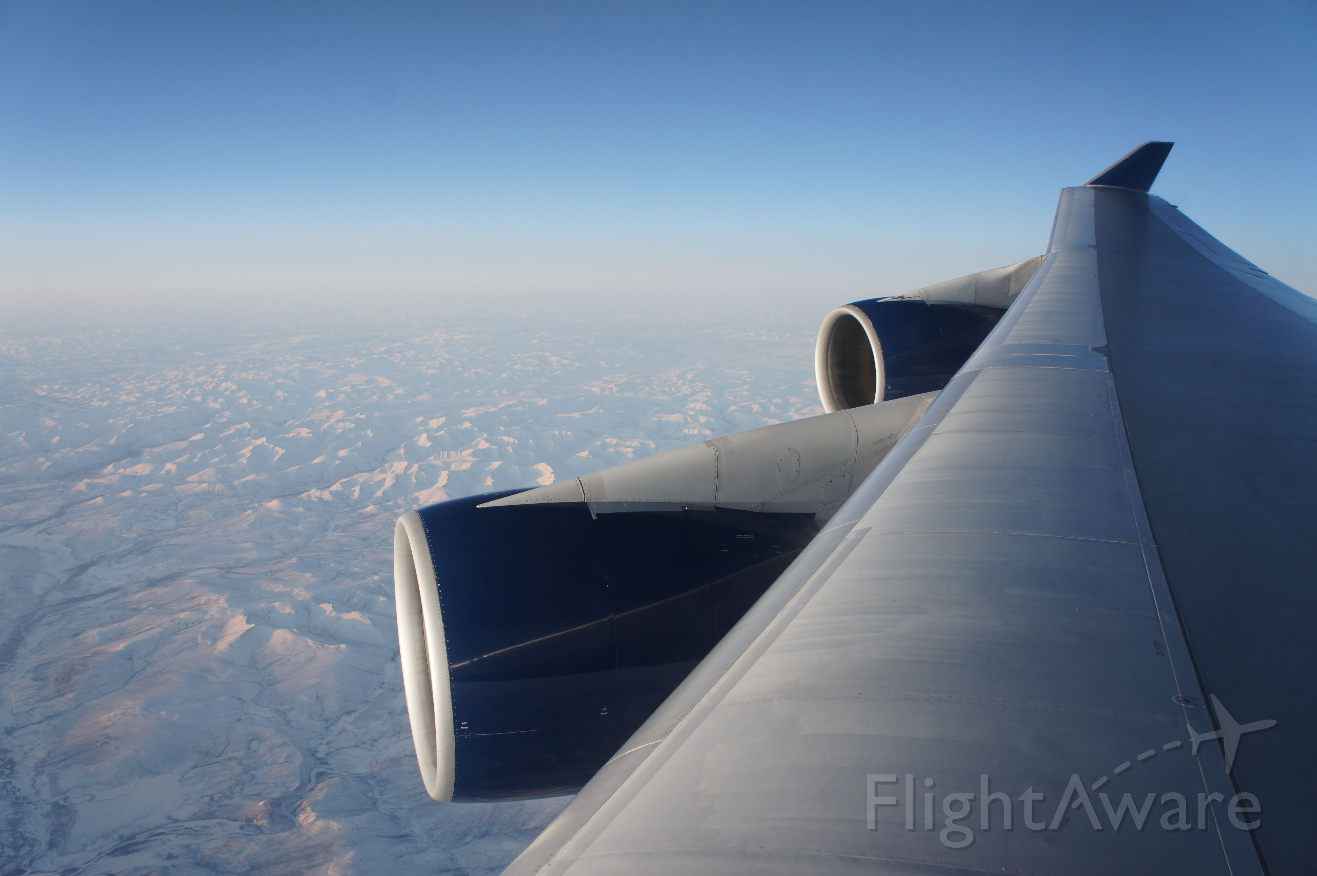 Boeing 747-200 — - Arctic routing between DTW and NGO.