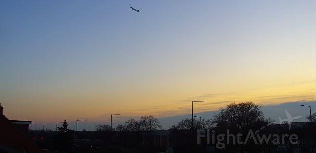 — — - taking off London Heathrow Airport