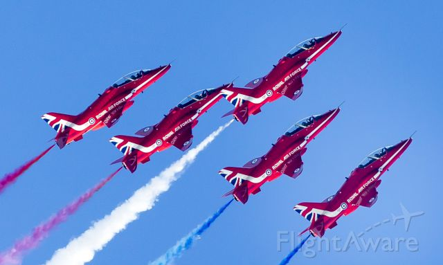 Boeing Goshawk — - Red Arrows at Jersey Channel Islands today! Sept 10, 2015