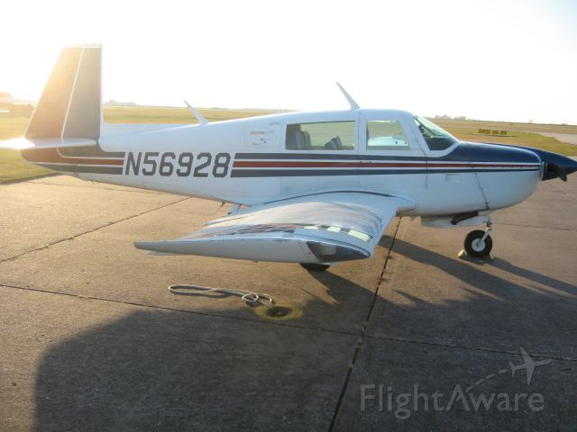 Mooney M-20 (N56928) - Tying down after some Thanksgiving flying