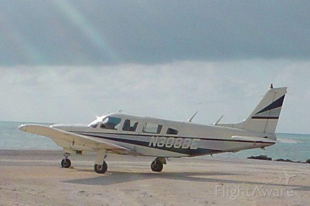 Piper Saratoga (N308BE) - Parked at Farmers Cay Airport, Exumas, Bahamas