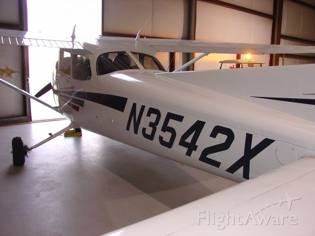 Cessna Skyhawk (N3542X) - Inside the Avserve hangar at Donaldson Airport in Greenville, South Carolina.