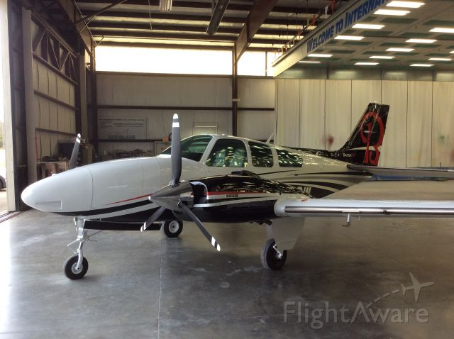 Beechcraft 55 Baron (N1832W) - Fresh paint always looks good!!