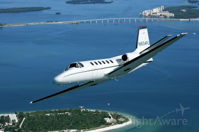 Cessna Citation II (N604PJ) - Over Sanibel